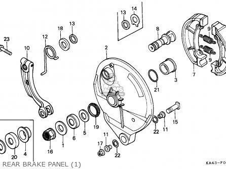 Honda Cr250r Elsinore 1984 E Australia Parts Lists And Schematics