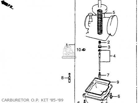 Honda Cr250r Elsinore 1986 g Usa Carburetor O p  Kit 85-89
