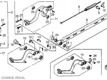Honda Cr250r Elsinore 1986 g Usa Change Pedal