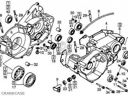 Honda Cr250r Elsinore 1986 g Usa Crankcase
