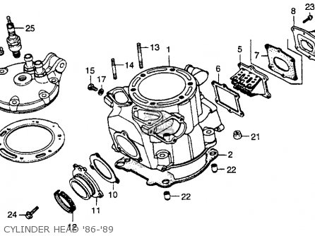 Honda Cr250r Elsinore 1986 g Usa Cylinder Head 86-89