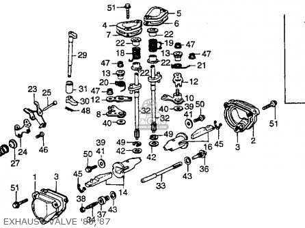 Honda Cr250r Elsinore 1986 g Usa Exhaust Valve 86 87