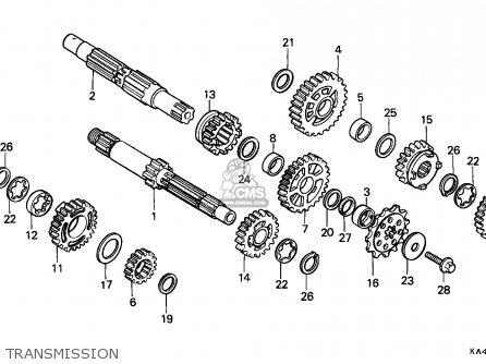 Honda Cr250r Elsinore 1989 K Australia Parts Lists And Schematics