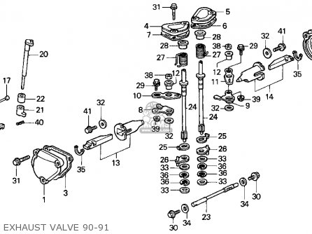 Honda Cr250r Elsinore 1990 L Usa Parts Lists And Schematics. Honda Cr250r Elsinore 1990 L Usa Exhaust Valve 9091. Honda. Honda Cr 250 Engine Diagram At Scoala.co