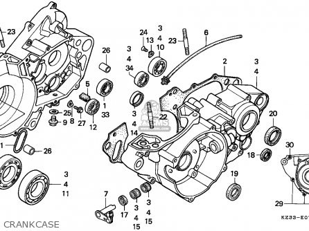 Honda CR250R ELSINORE    1992     N  EUROPEAN DIRECT SALES parts lists and schematics