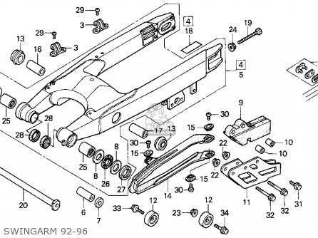 Honda Cr250r Elsinore 1992 N Usa Parts Lists And Schematics