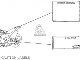Honda Cr250r Elsinore 2000 y Usa Caution Labels