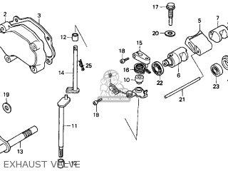 Honda Cr250r Elsinore 2000 y Usa Exhaust Valve