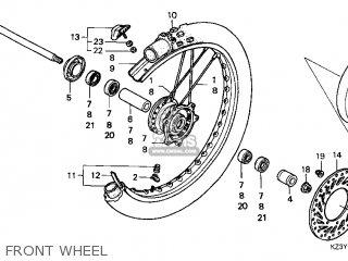 Honda Cr250r Elsinore 2000 y Usa Front Wheel