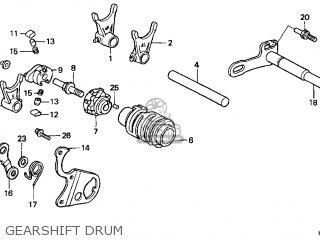 Honda Cr250r Elsinore 2000 y Usa Gearshift Drum