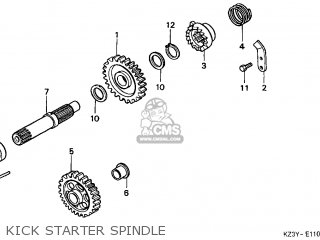 Honda Cr250r Elsinore 2000 y Usa Kick Starter Spindle