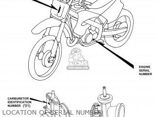 Honda Cr250r Elsinore 2000 y Usa Location Of Serial Number