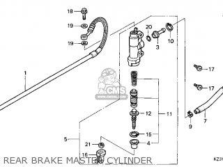 Honda Cr250r Elsinore 2000 y Usa Rear Brake Master Cylinder