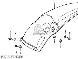 Honda Cr250r Elsinore 2000 y Usa Rear Fender