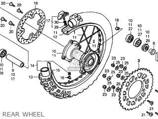 Honda Cr250r Elsinore 2000 y Usa Rear Wheel