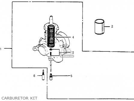 Honda Cr450r Elsinore 1981 b Usa Carburetor Kit