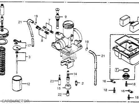 Honda Cr450r Elsinore 1981 b Usa Carburetor
