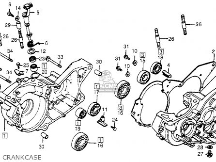 Honda Cr450r Elsinore 1981 b Usa Crankcase