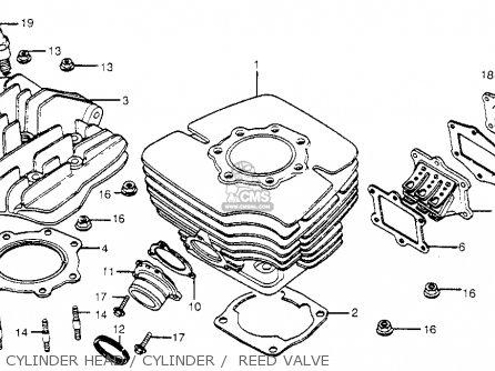 Honda Cr450r Elsinore 1981 b Usa Cylinder Head   Cylinder    Reed Valve
