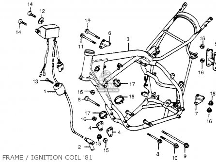 Honda Cr450r Elsinore 1981 b Usa Frame   Ignition Coil 81