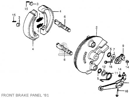 Honda Cr450r Elsinore 1981 b Usa Front Brake Panel 81