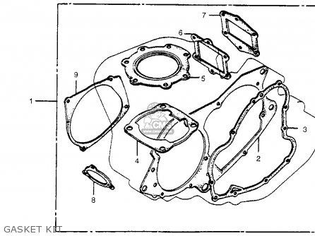 Honda Cr450r Elsinore 1981 b Usa Gasket Kit