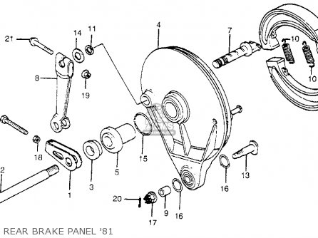 Honda Cr450r Elsinore 1981 b Usa Rear Brake Panel 81