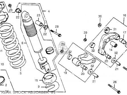 Honda Cr450r Elsinore 1981 b Usa Rear Shock Absorber 81