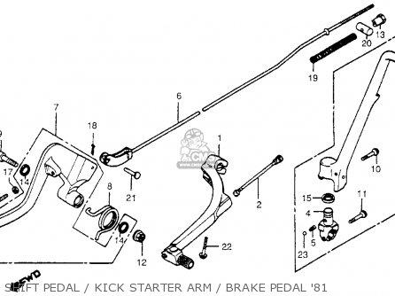 Honda Cr450r Elsinore 1981 b Usa Shift Pedal   Kick Starter Arm   Brake Pedal 81