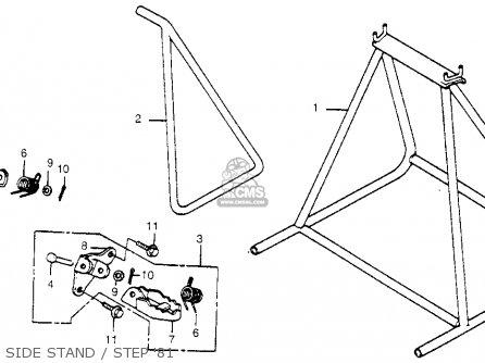 Honda Cr450r Elsinore 1981 b Usa Side Stand   Step 81