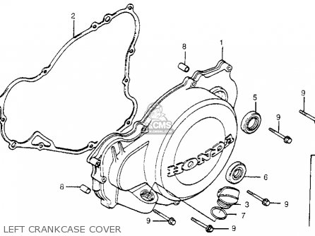 Honda Cr480r 1982 c Usa Left Crankcase Cover