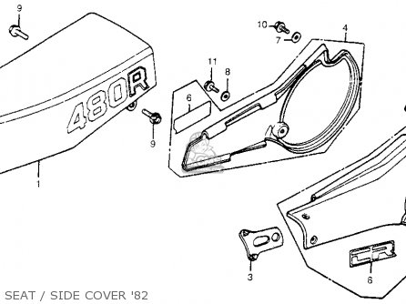 Honda Cr480r 1982 Usa Seat   Side Cover 82