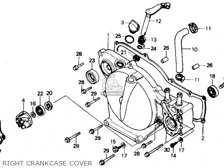 Honda CR80R 1985 (F) USA parts lists and schematics