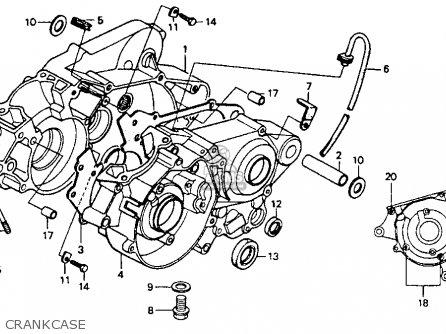 honda cr80r 1991  m  usa parts list partsmanual partsfiche