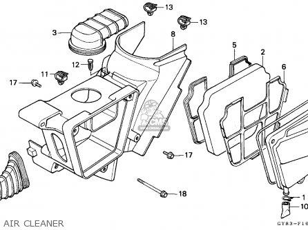 Honda Crm75r 1989 k Spain Air Cleaner