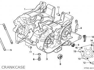 Honda Crm75r 1989 k Spain Crankcase