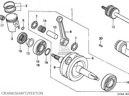 Honda Crm75r 1989 k Spain Crankshaft piston