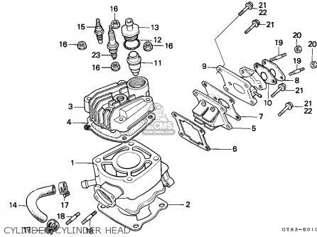 Honda Crm75r 1989 k Spain Cylinder cylinder Head