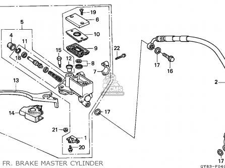 Honda Crm75r 1989 k Spain Fr  Brake Master Cylinder