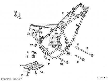 Honda Crm75r 1989 k Spain Frame Body