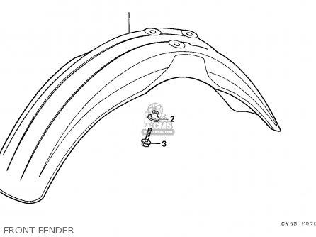 Honda Crm75r 1989 k Spain Front Fender