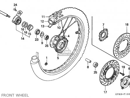 Honda Crm75r 1989 k Spain Front Wheel