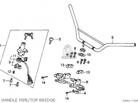 Honda Crm75r 1989 k Spain Handle Pipe top Bridge