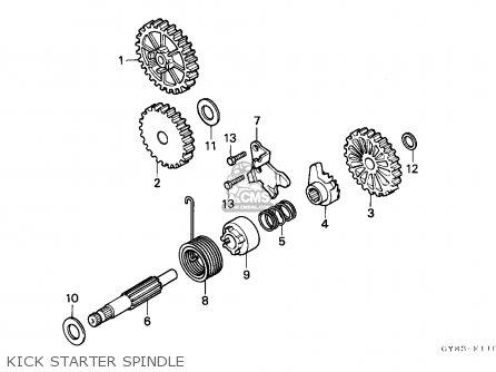 Honda Crm75r 1989 k Spain Kick Starter Spindle