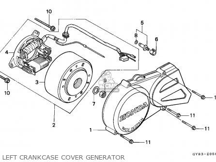 Honda Crm75r 1989 k Spain Left Crankcase Cover Generator