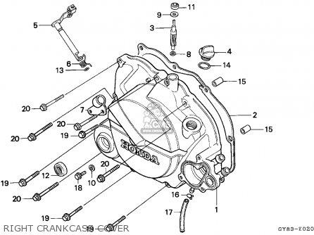 Honda Crm75r 1989 k Spain Right Crankcase Cover