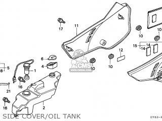 Honda Crm75r 1989 k Spain Side Cover oil Tank