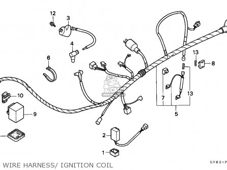Honda Crm75r 1989 k Spain Wire Harness  Ignition Coil