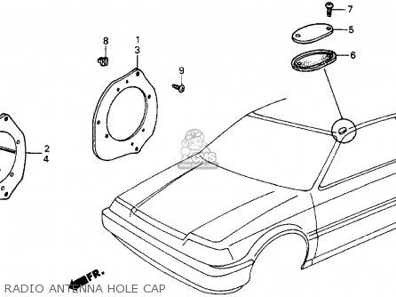 Honda Crx 1986 G 2dr Hf Kakhkl Parts Lists And Schematics