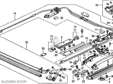 Honda Crx 1988 J 2dr Si Kakl Parts Lists And Schematics